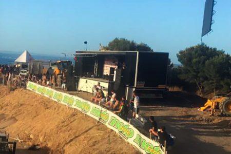 Camion podium sur événements sportifs